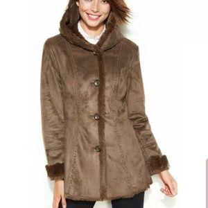 c320bab8ebef Jones New York · Brand new Jones New York Brown Faux Fur Coat ...